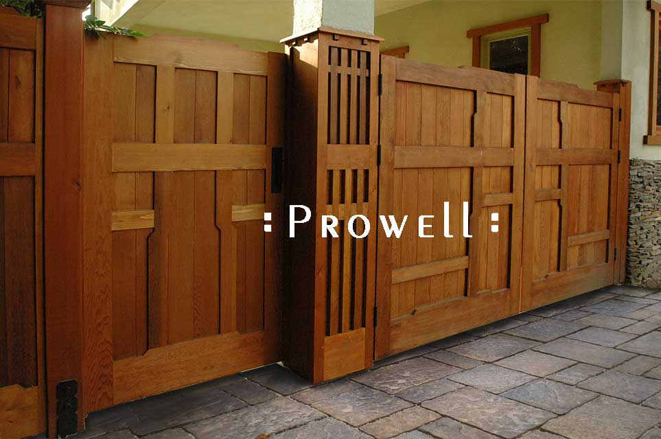 Craftsman Wood Garden Gate 92 From Prowell Woodworks